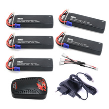 5pcs 7.4V 3000mAh 10C Hubsan H501S lipo battery  Batteies  with cable for charger Hubsan H501C rc Quadcopter Airplane drone Spar