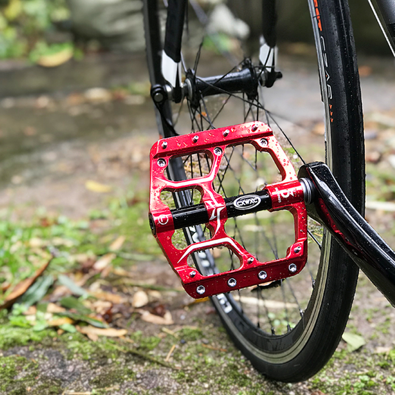 Flat Bike Pedals MTB Road 3 Sealed Bearings Bicycle Pedals Mountain Bike Pedals Wide Platform Pedales Bicicleta Accessories Part