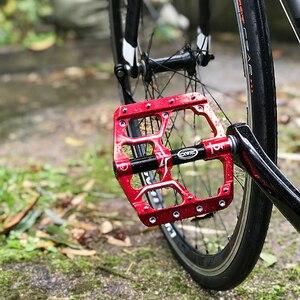 Image 5 - Pédales de vélo plates vtt route 3 roulements scellés pédales de vélo pédales de VTT plate forme large pédales Bicicleta accessoires partie