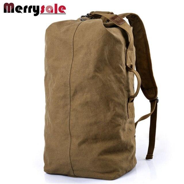 Zapatos de lona de los hombres del bolso de hombro mochila bolsa de viaje de gran capacidad de bolsa de cubo