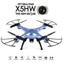 High Quality Racing Quadcopter Syma X5HW WiFi FPV HD 0.3MP CAM 2.4GHz 4CH 6 Axis Gyro RTF Night Flight Mini Drone Toy