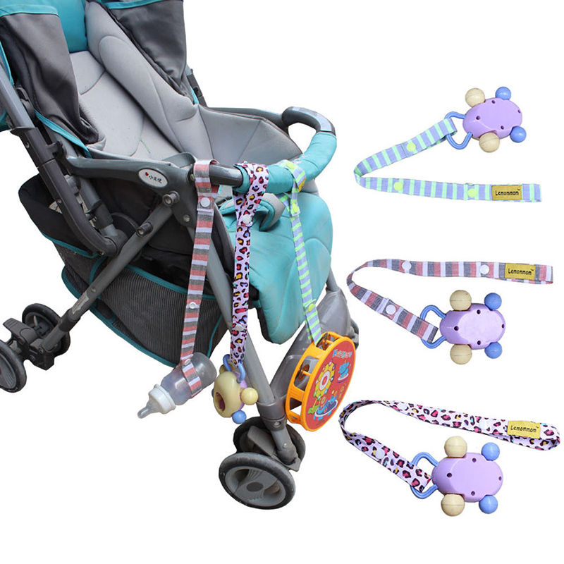 1pcs New Baby Safety Seats Baby Rattles Toys Fixed Toys Stroller Toys Pacifier Chain Tether Strap