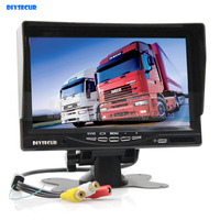Sun Shade HD 800 X 480 7 Inch TFT LCD Display Rear View Car Monitor With