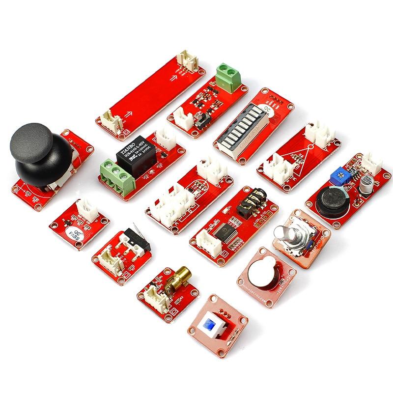 Kit d'apprentissage Elecrow Crowtail entrée et sortie fonction transducteur de commutation Modules bricolage Kit de combinaison pour la programmation Arduino - 2