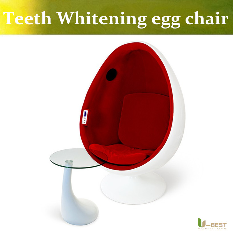 ubest teeth whiten clinic egg egg chair with a 51 surround sound speaker system inside