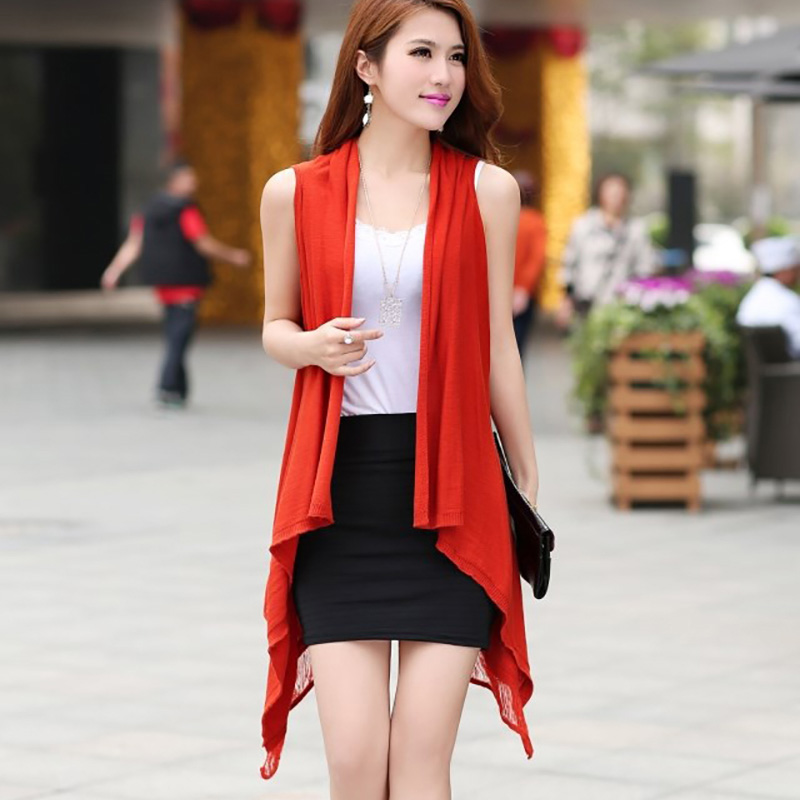 b002c68627af1f Dames Truien 2018 Fall Spring Women Thin Knitted Sweater Sleeveless Open  Stitch Female Slim Cardigans Fashion Hallow Sweater