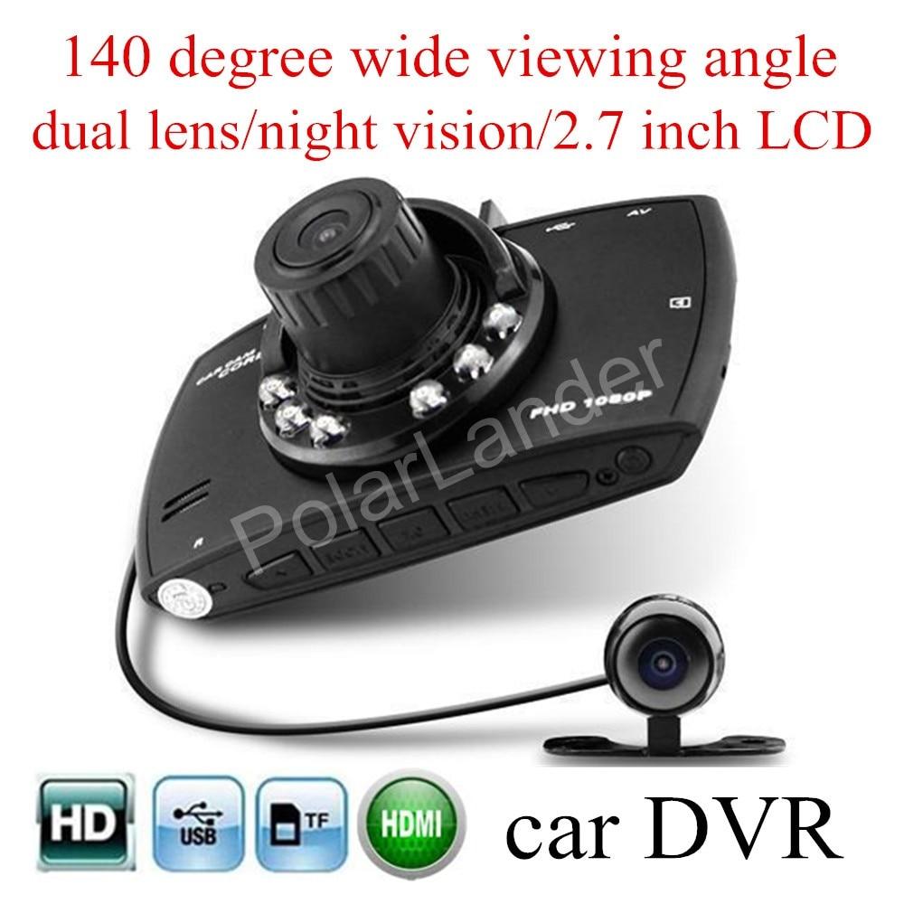 Car DVR Cam-Recorder Vehicle Dual-Lens Night-Vision Dash Wide 140-Degree Full-Hd LCD