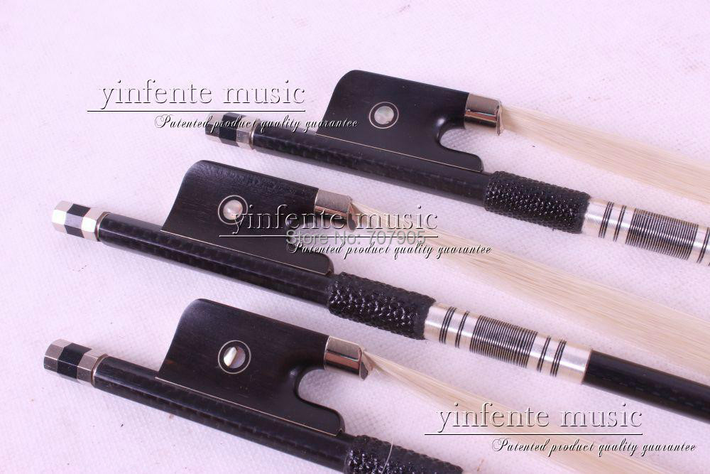 цены  4/4 Cello Bow Carbon fiber Round Stick Ebony f  rog High Quality New 40#