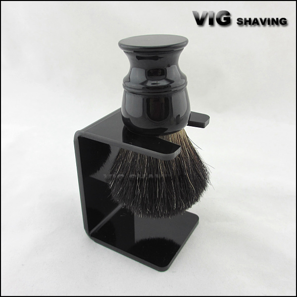 26mm knot Resin handle black badger hair shaving brushes with free stand