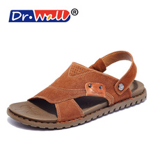 High Quality Sandals Men's Genuine Cow Leather Fashion Sandals Men Casual Breathable Summer Beach Slippers Shoes M5B1L36801