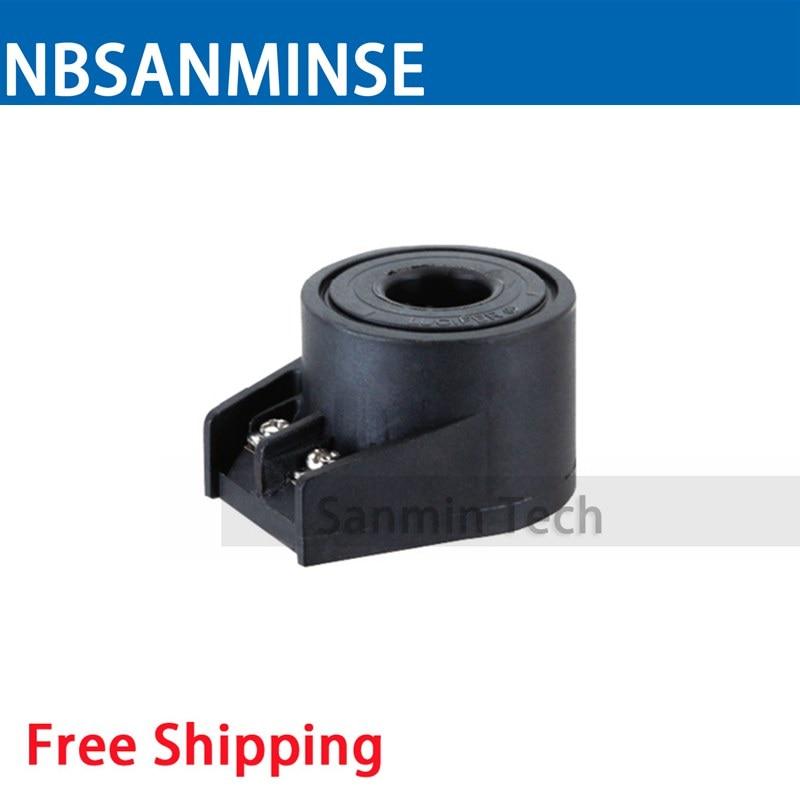 EZ08 Solenoid Valve Coil Electrical Solenoid Valve Coil AC220V Voltage Terminal Wiring Valve Coil Sanmin