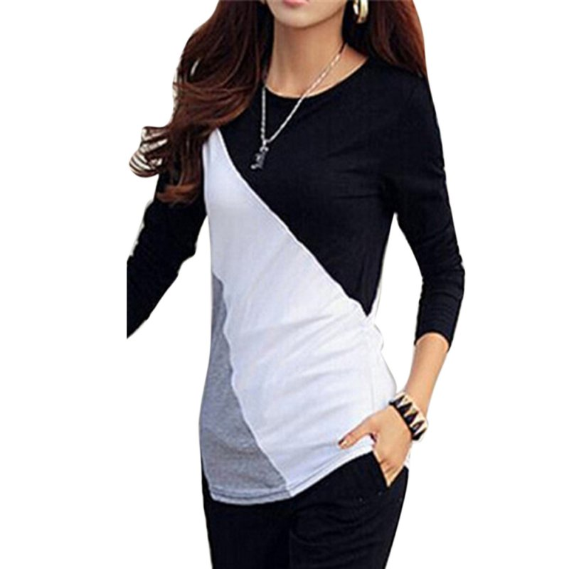 women ladies t shirt long sleeve clothes ropa tee shirt femme poleras camisetas mujer black. Black Bedroom Furniture Sets. Home Design Ideas