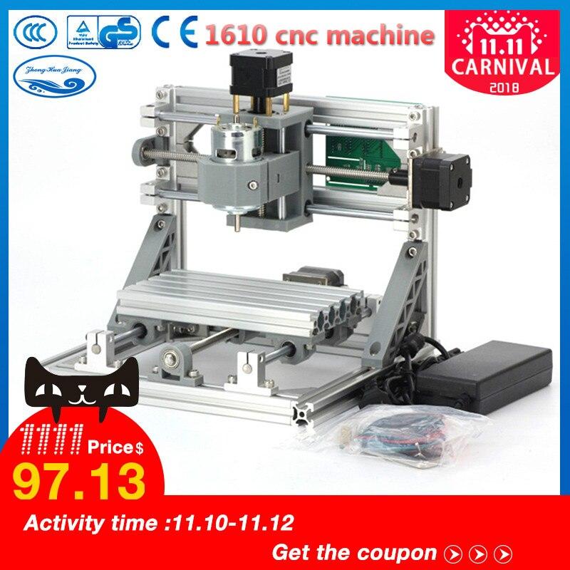 CNC Bois Rounter 1610 GRBL contrôle Diy mini CNC machine, zone de travail 16x10x4.5 cm, 3 axe Pcb fraiseuse