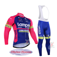 2016 Men Winter Thermal Fleece Pro Team Long Sleeve Cycling Jersey Ropa Ciclismo Quick Dry Cycling