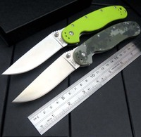 High Quality RAT R1 Folding Knife With Sand Light Surface 9CR18MOV Blade G10 Handle Camping Outdoor