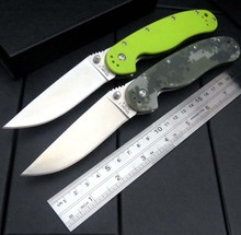 New Folding knife With Sand Light Surface AUS-8 Blade G10 Handle Camping Outdoor Tool Pocket Knives EDC Hand Tool