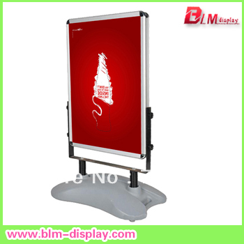 A1 double side Poster Stand water or sand filled Poster Board ...