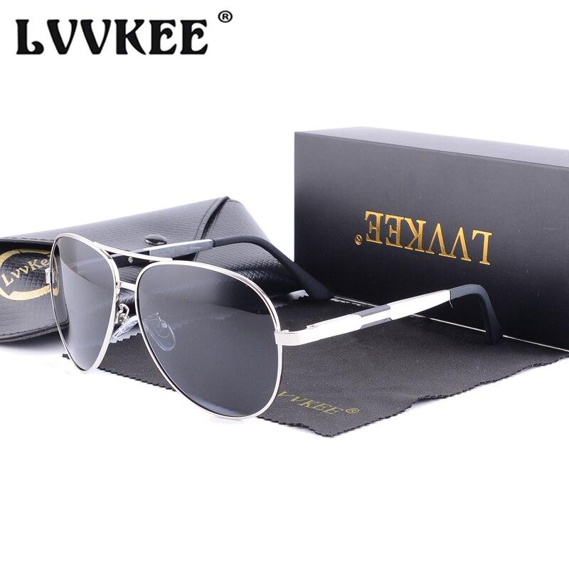 LVVKEE 2018 Hot Sale Značka řidiči automobilů z hliníku a hořčíku Sluneční brýle Pánské polarizátory proti slunečnímu záření Sluneční brýle Řidičské brýle Mužské