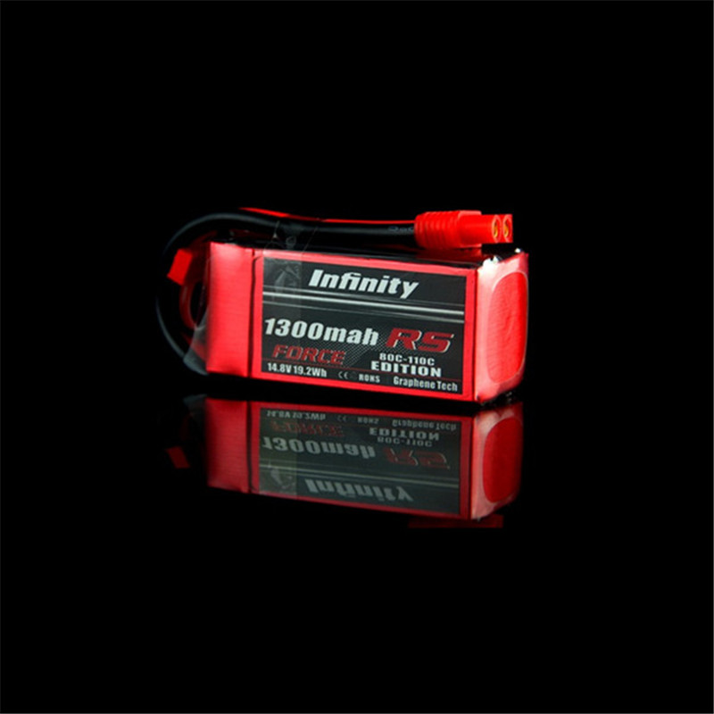 Rechargeable Li-po Battery For Infinity 1300mah 80C-110C 4S1P 14.8V RS FORCE EDITION RC Quadcopter Batteries 3 6v 2400mah rechargeable battery pack for psp 3000 2000