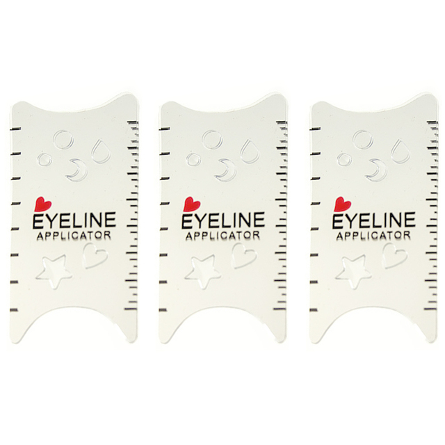 3Pcs/Lot Makeup Eyeliner Models Template Top Bottom Eye-line Card for Eye Auxiliary Tools