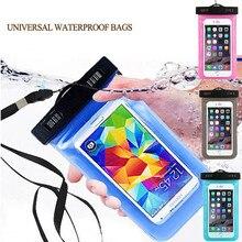 100% à prova d' água saco bolsa mobile phone case para apple iphone 6 6 s 7 além de 5S 5c se 4 samsung s5 s6 s7 edge note5 lg google htc(China (Mainland))