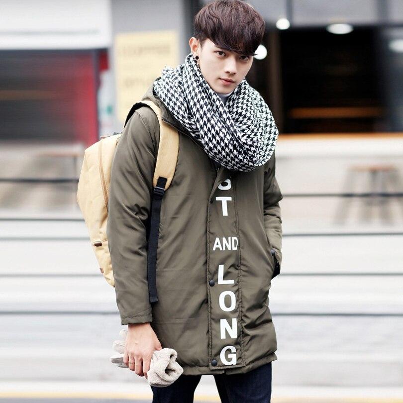 ФОТО Men's Winter Coat Male 2016 Parka Long Jacket Men Casual Fashion Patchwork Warm Parka Overcoat Male Canada Winter Jacket