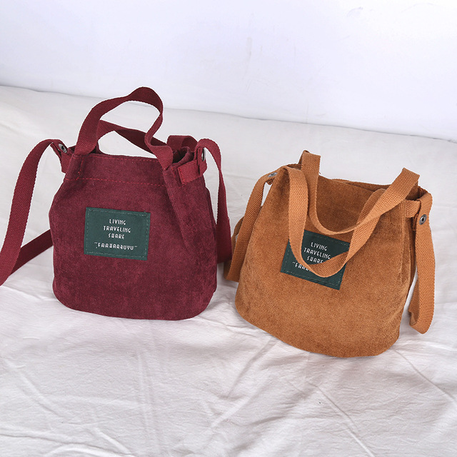 Mini Corduroy Bucket Bag