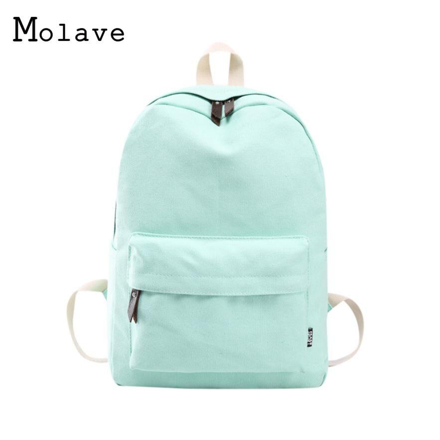 MOLAVE Rucksack Cool Daypack Travel-Backpack-Bag Canvas Shoulder Teenage-Girls for Preppy