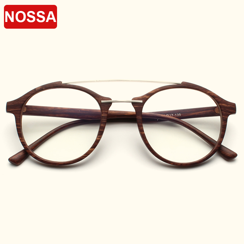 NOSSA Vintage Excellent Optical Glasses Frames Men Women Retro Round Spectacles Male Female Casual Eyewear Frames Trendy Goggle