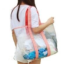 Large Sport Swimming Handbag for Women Casual Tote Handbags Capacity Shoulder Bag Waterproof PVC Transparent Shopping
