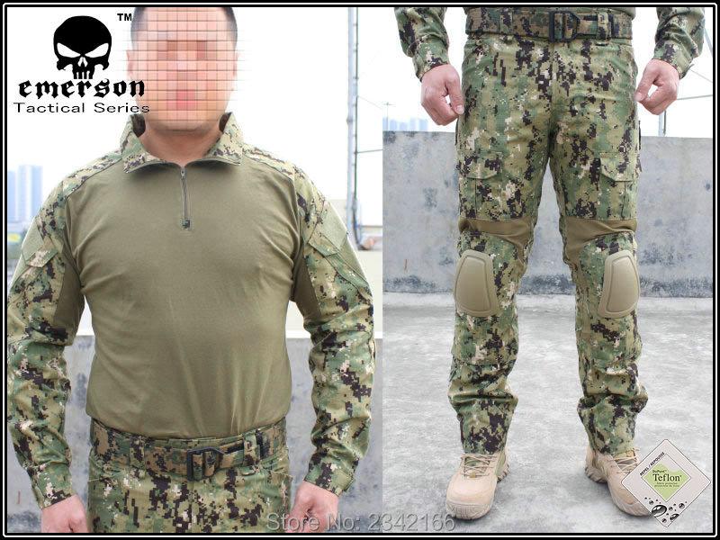 Hot Saling EMERSON Devgru G2 Combat font b Shirt b font Pants Set AOR2