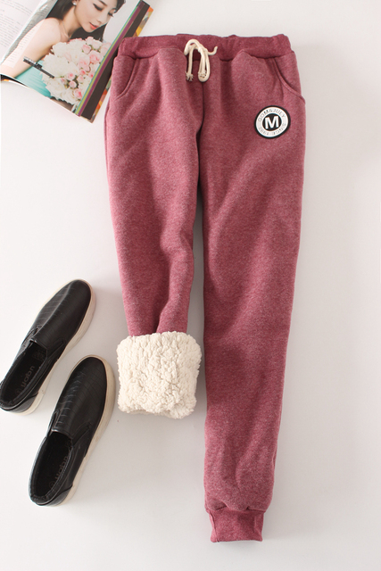 Winter Fleece Warm Women Harem Pants 2017 Big Size Elastic Waist Leisure Thicken Sweatpants Full Length 9 Color Loose Trousers 5