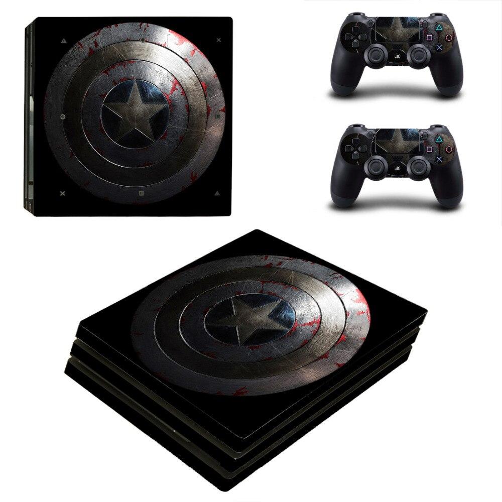 Captain America Console Защитные Наклейки из ПВХ Кожи для PS4 Pro бесплатная доставка