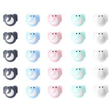 24mm 100pcs Silicone Beads Cute elephant Silicone Teething Beads Accessorie silicone rodent Making N