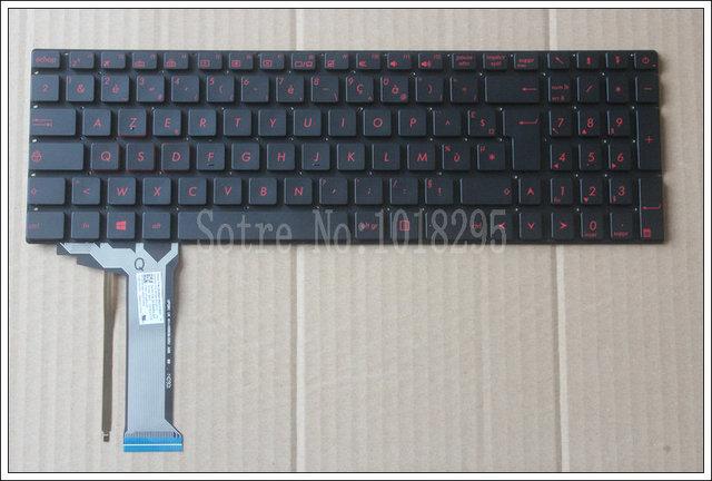New FOR ASUS  N751 N751J N751JK N751JX  backlit French  FR  laptop keyboard black