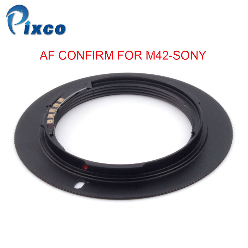 Pixco For M42-Sony AF Confirm Adapter Suit For M42 Screw Mount Lens To Sony Alpha Minolta MA Camera Black