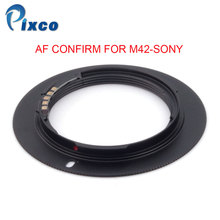 Pixco For M42 Sony AF Confirm Adapter Suit For M42 Screw Mount Lens to Sony Alpha Minolta MA Camera Black