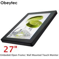 Obeytec 27 inch LCD P CAP Capacitive Open Frame Touch Monitor, FHD Resolution, PCAP touch screen, 10 Points Touch, 1920*1080
