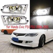 Fog Lights for HONDA CIVIC FD1 FD2 2006 - 2011 Front fog Lamps with LED bulbs/halogen bulbs Fog Lamp for CIIMO 2012-2015 недорго, оригинальная цена