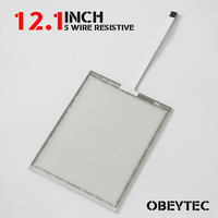 12 1 Inch 5 Wire Resistive Touch Screen Panel Kit USB Controller 248 186mm Check Drawing