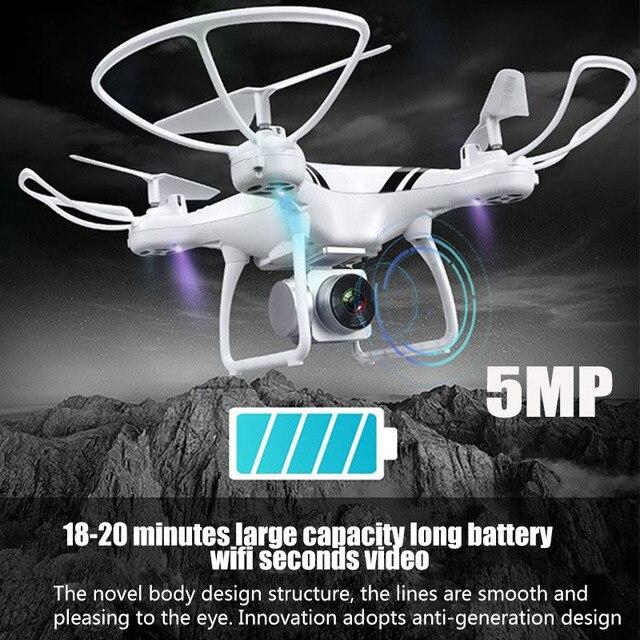 KY101S RC Drone avec Wifi FPV HD Réglable Caméra Maintien D'altitude Un Retour Key/D'atterrissage/Off Sans Tête RC quadcopter Drone