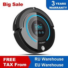 цена на LIECTROUX A338 Multifunction Robot Vacuum Cleaner (Sweep,Suction,Mop,Sterilize),LCD,Schedule,Virtual Blocker,Self Charge,Remote