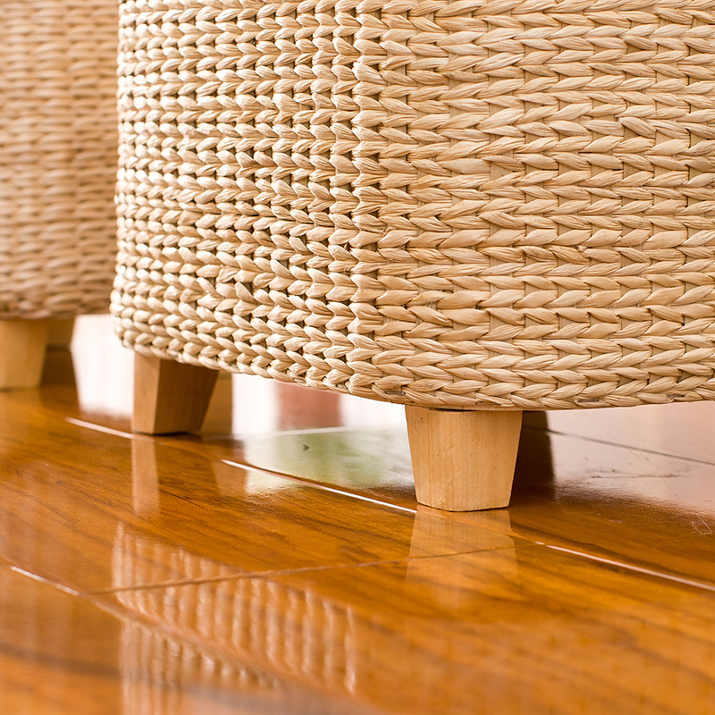 Fantastic Us 34 15 32 Off Rattan Straw Storage Stool Ottoman Foot Stool Rectangle Hand Knit Floor Footstool For Living Room Bedroom And Under Desk In Stools Gamerscity Chair Design For Home Gamerscityorg