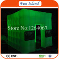Free Shipping Attractive Portable Lighted Inflatable Cube Photo Booth/Kiosk For Sale FI-T017