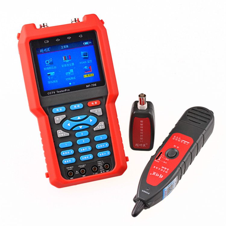 Free shipping NF-706 Multifunctional Analog CVBS Signal RJ45 BNC and Metal Cable Length Optical Power Meter CCTV Cable Tester free shipping noyafa nf 906c new optical power meter 850 1300 1310 1490 1550 1625nm and detecting range dbm 50 26