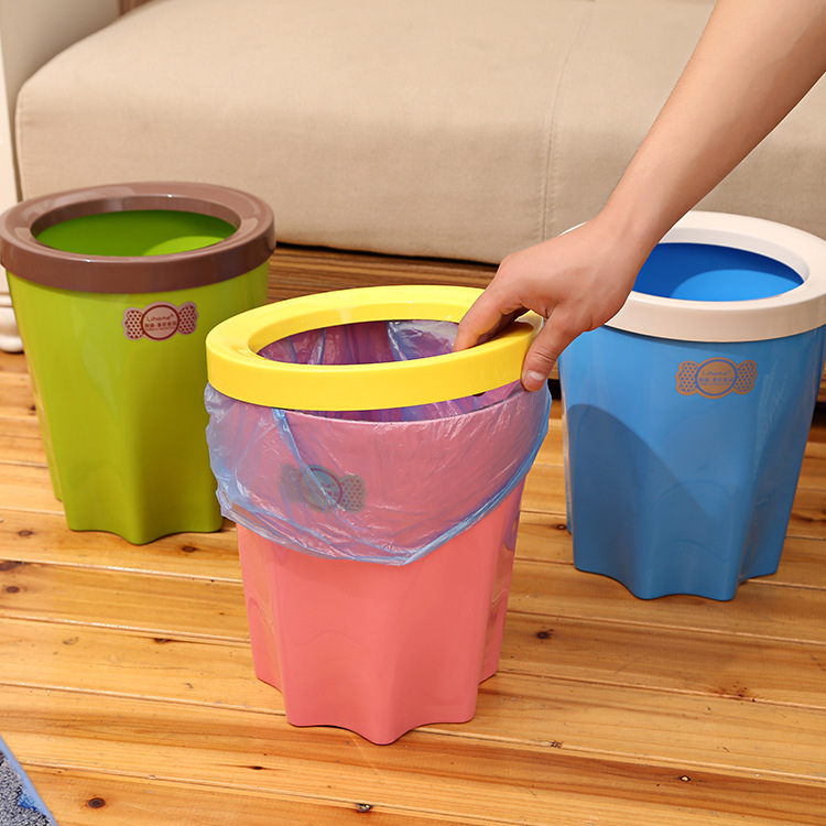 2015 Garbage Bags Cubo De Basura Dustbin With A Press Ring Trash Candy Color