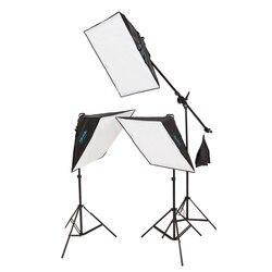 Photo Studio Video Softbox Lighting Kit Photo Equipment Photo Softbox kit 3 light stand 3 softbox 1pc bag lighting kit CD05 2Y