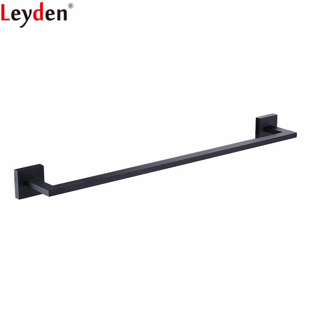 Leyden Single Towel Bar New Arrival Wall Mounted Blackened Finish Stainless Steel Towel Holder For Bathroom AccessoriesLeyden Single Towel Bar New Arrival Wall Mounted Blackened Finish Stainless Steel Towel Holder For Bathroom Accessories