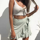 Ribbed Bow Tie Camis...