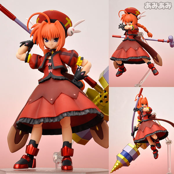 15cm Height Figma 052 Magical Girl Lyrical Nanoha with Hammer Knight Action Figure Doll